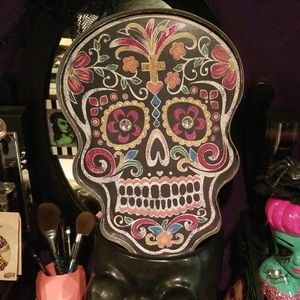 Day of the Dead Skull - hangs & lights up